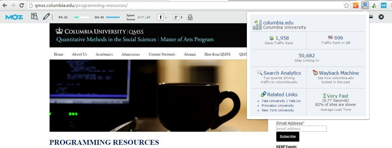 qmss metrics
