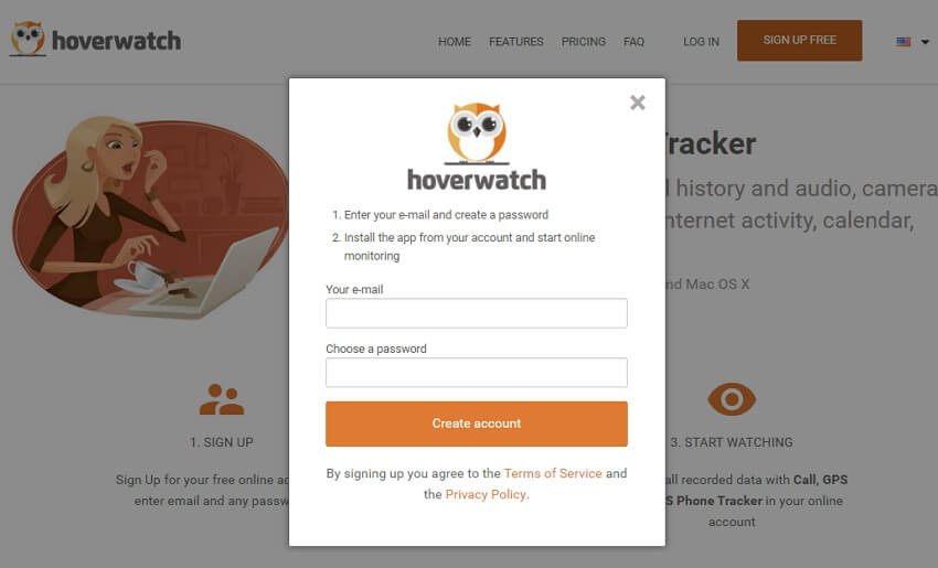 Hoverwatch guide - how to track smartphone activities